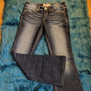 LEI Sophia Flare Jeans-Dark Wash